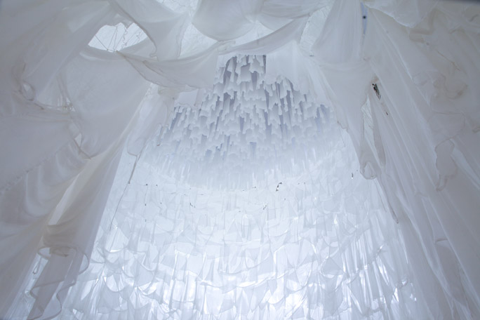 12000 white silk dresses picture by Kazue Kawase