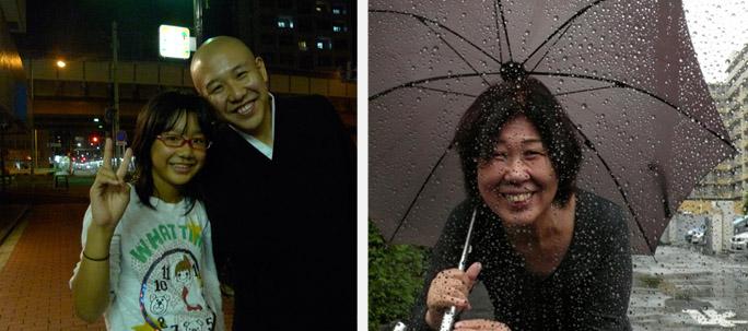 Boeddistische priester, gespecialiseerd in 'waterkinderen-rituelen' mr. Miura en zijn dochter | Yaeko Kurosaki