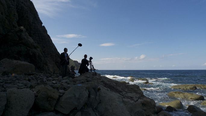 Filmen bij Sai No Kawara, Sado Island, Japan